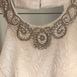White Princess Cut with Beaded Neck